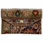Preview: 00010 Handbag clutch made of Hereke silk carpet 11 x 7 inch vintage design