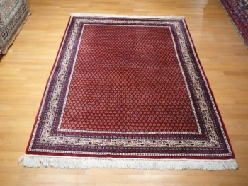 10329 Sarouk Mir vintage rug India 7.6 x 5.4 ft / 232 x 165 cm