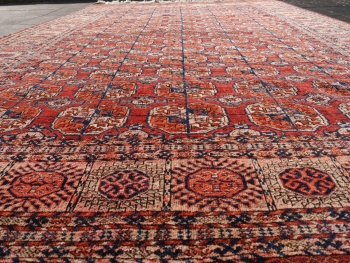 14691 Bokhara antique rug Turkmenistan 12.3 x 7.1 ft / 375 x 216 cm