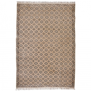 14806 Berber Kilim rug vintage 8 x 5.5 ft / 240 x 162 cm Beige - Grey - Brown