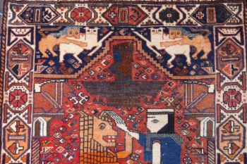 Lion Wedding Rug 5.5 x 3.6 ft - 166 x 112 cm