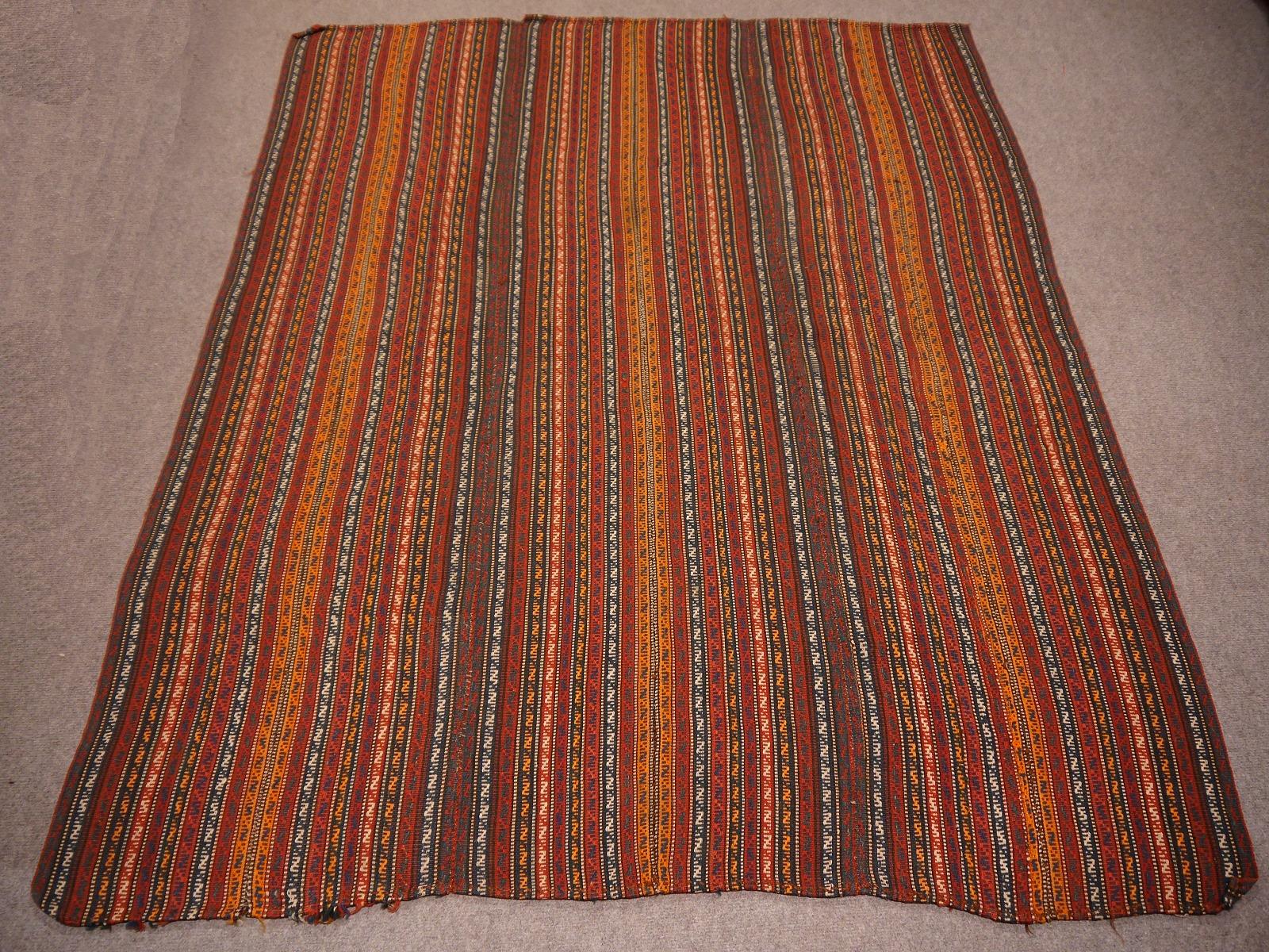 12137 jajim vintage rug iran persia 5 8 x 5 4 ft 177 x 165 cm. Black Bedroom Furniture Sets. Home Design Ideas