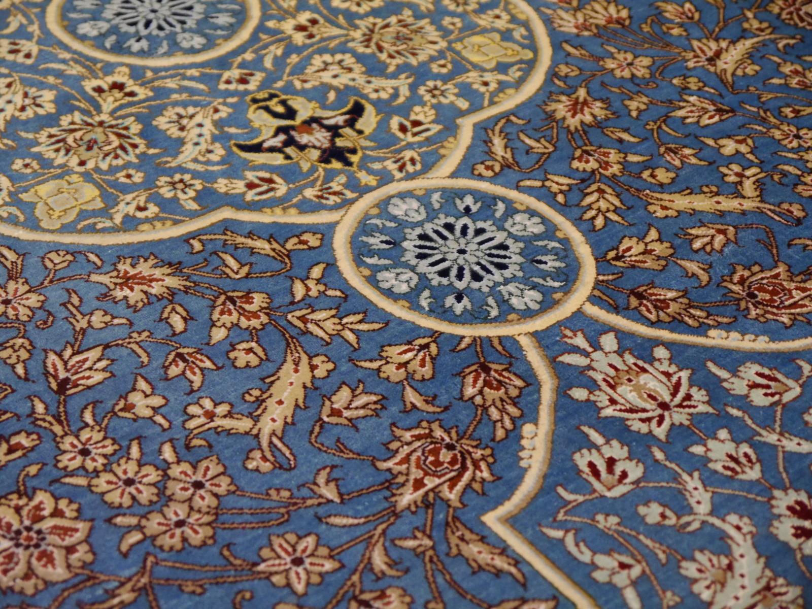 12233 Persian Qum Silk Rug 6 4 X 4 4 Ft 195 X 132 Cm