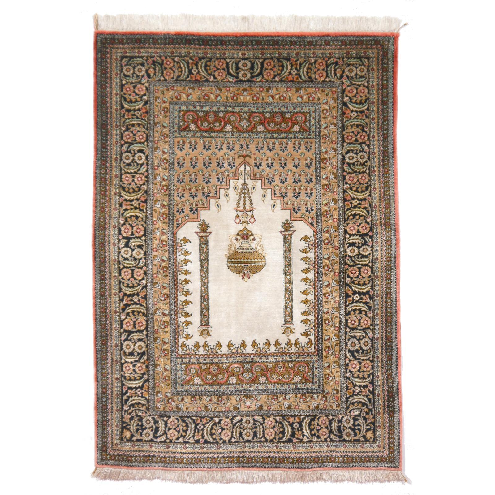 Seidenteppich  13187 Ghom Seide Teppich Iran / Persien 158 x 105 cm - Djoharian ...