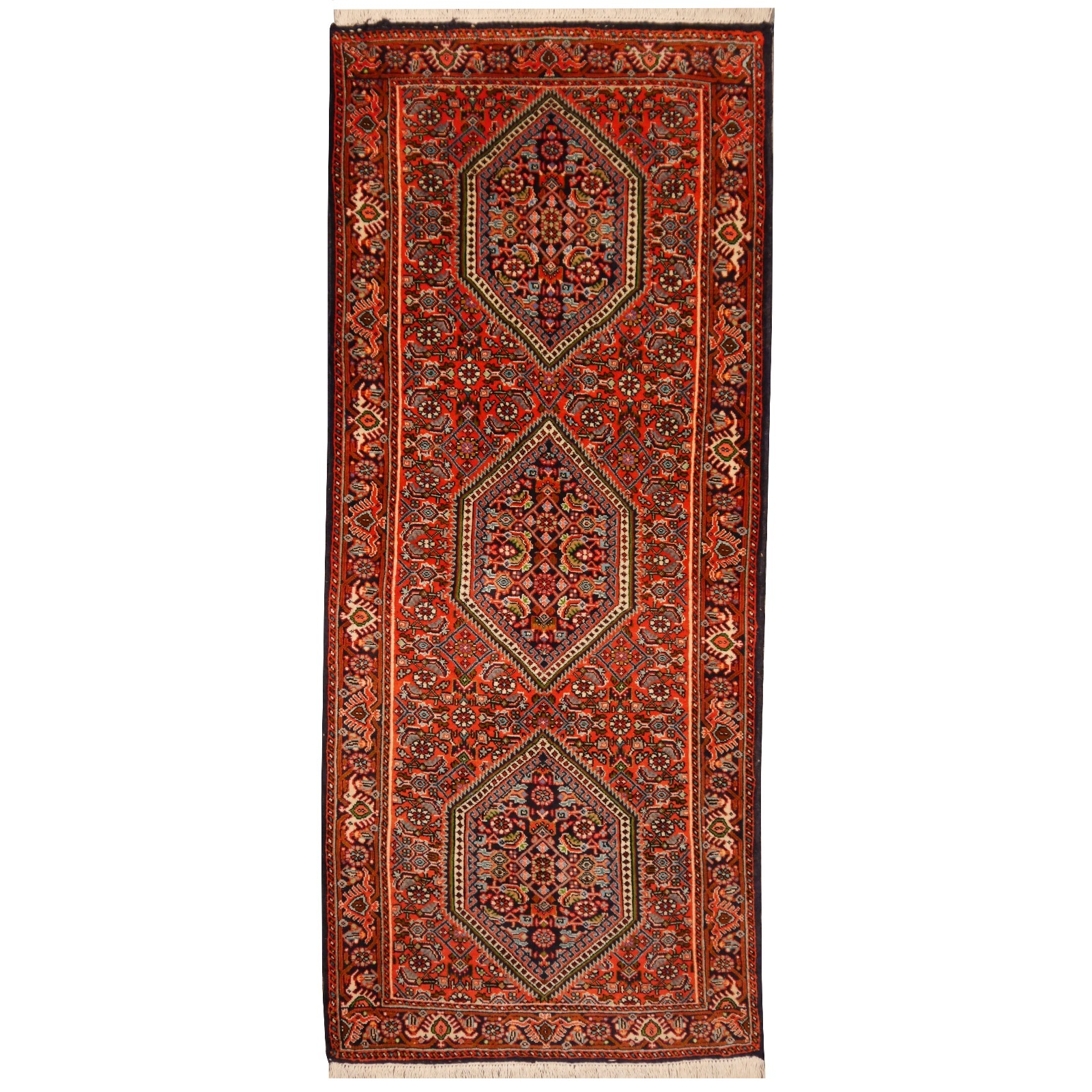 13654 bidjar rug iran persia 4 8 x 2 ft 147 x 62 cm. Black Bedroom Furniture Sets. Home Design Ideas