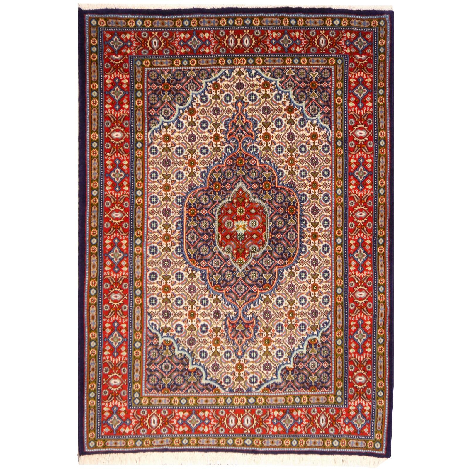 13692 khorasan birdjand persian rug 4 6 x 3 4 ft 141 x 103 cm. Black Bedroom Furniture Sets. Home Design Ideas