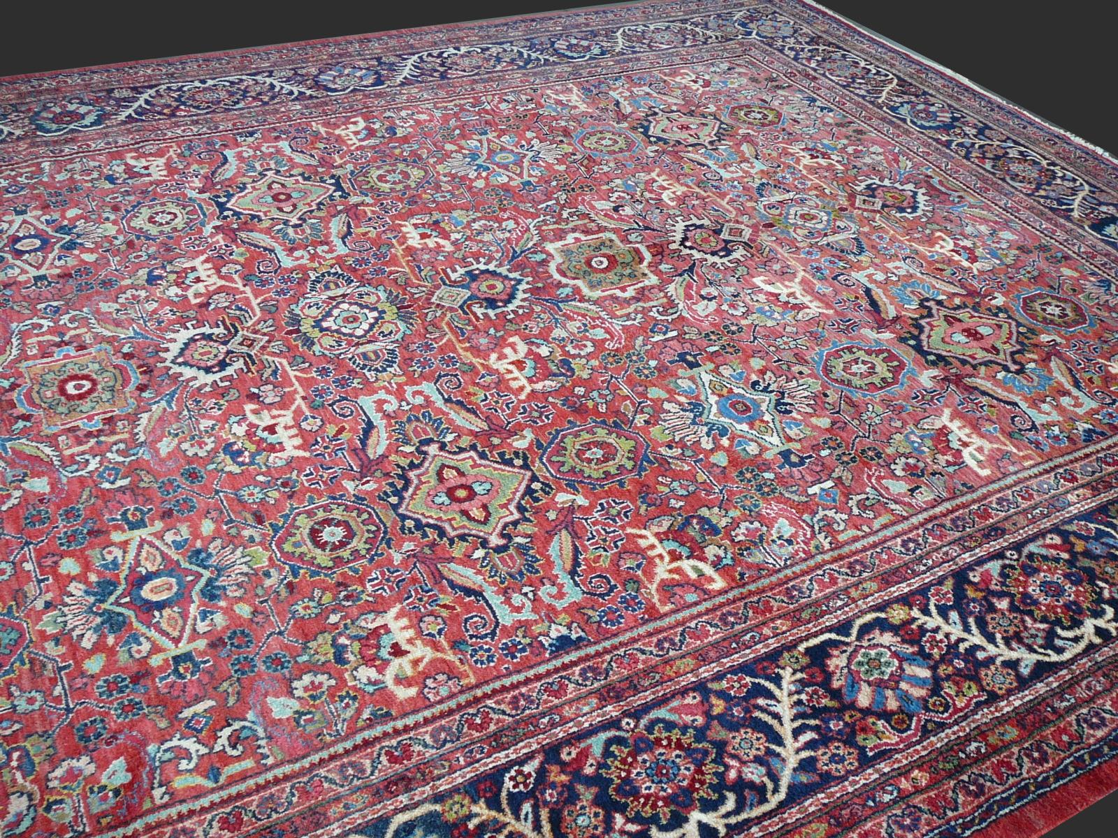 13926 Sultanabad Ziegler Mahal Antique Rug Iran Persia