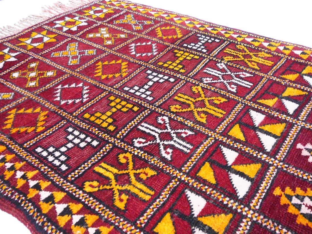14166 zemmour vintage teppich marokko 200 x 106 cm. Black Bedroom Furniture Sets. Home Design Ideas
