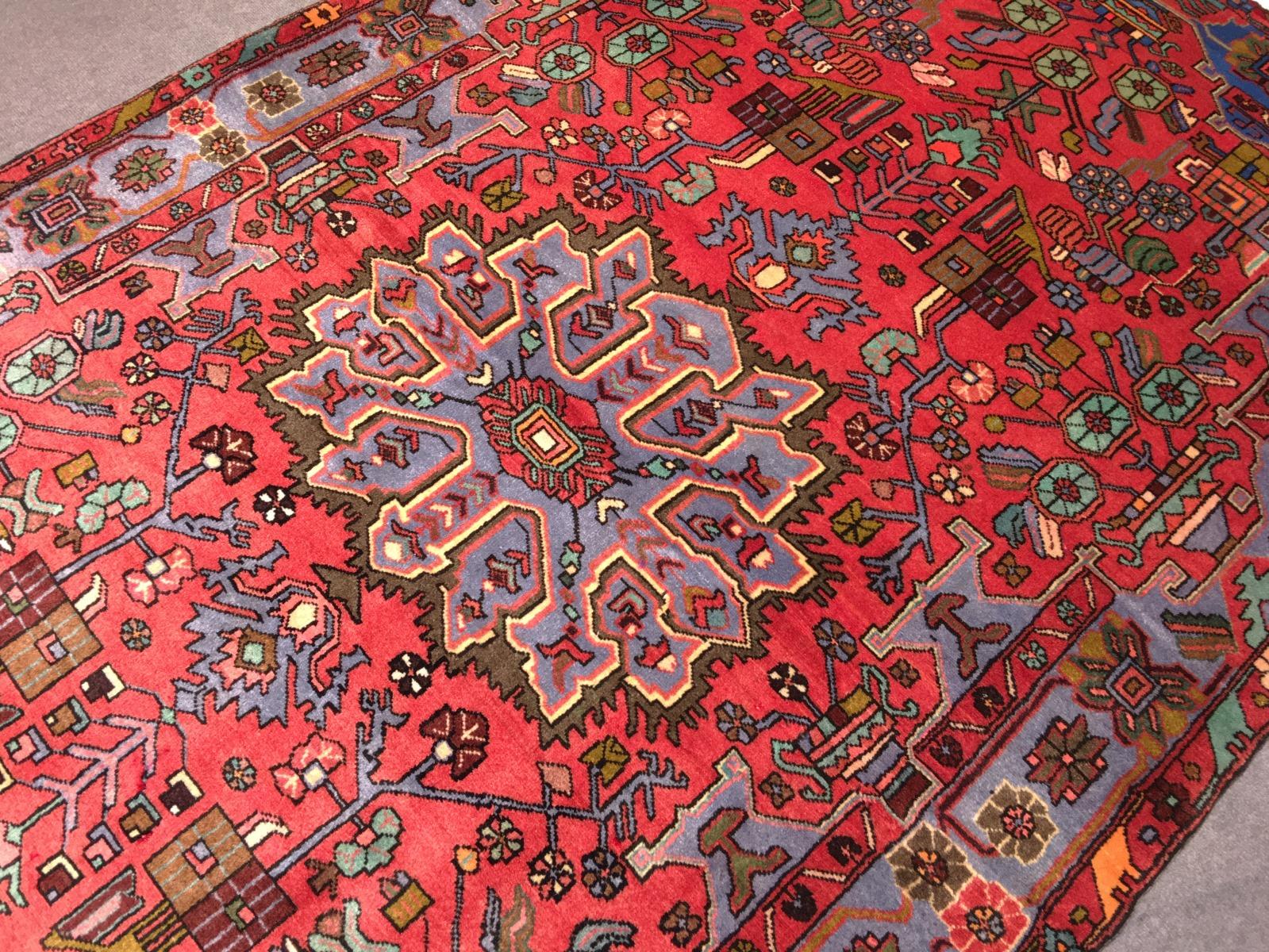14461 Nahavand Teppich Iran Persien 248 X 147 Cm
