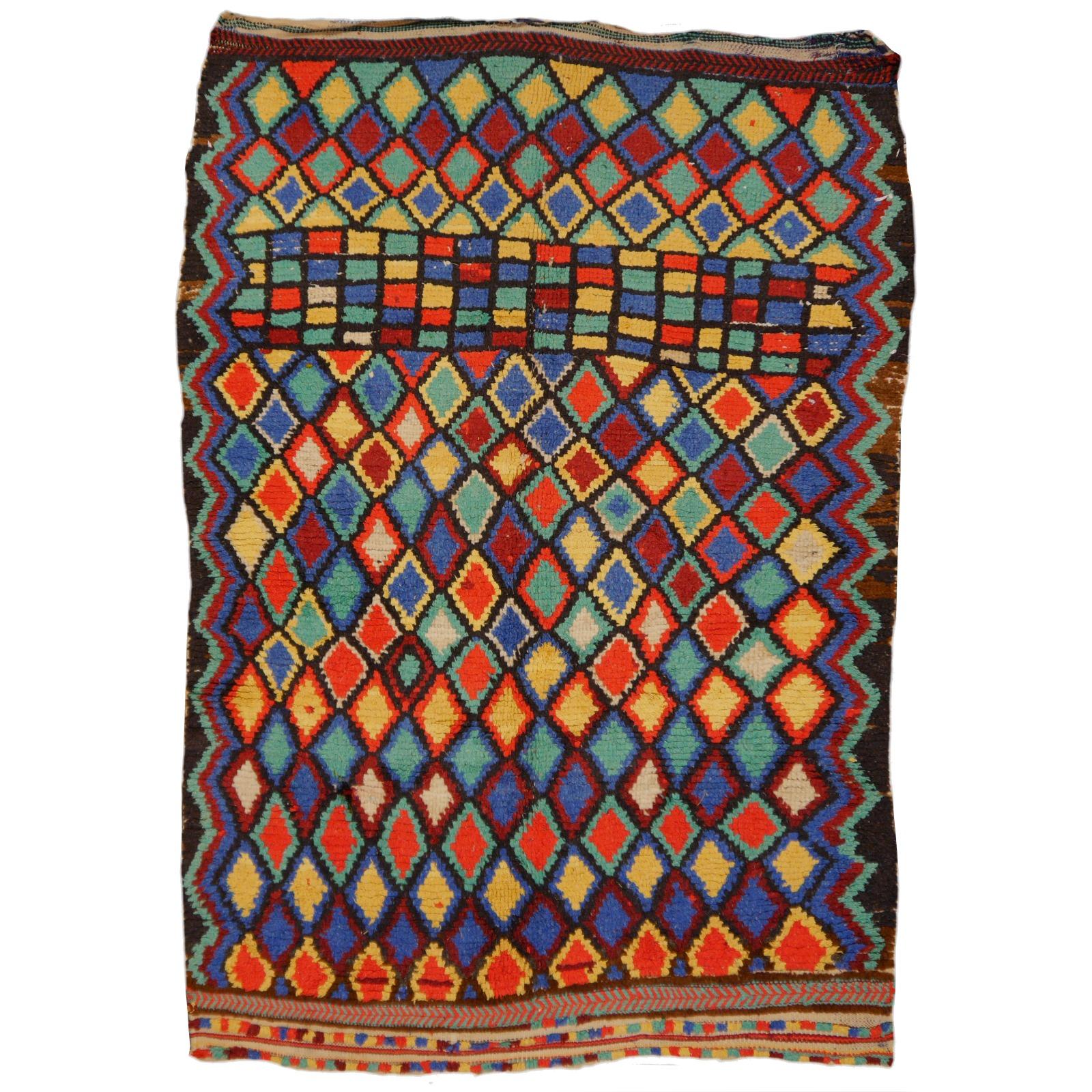 14705 Azilal Vintage Teppich Marokko 235 X 155 Cm