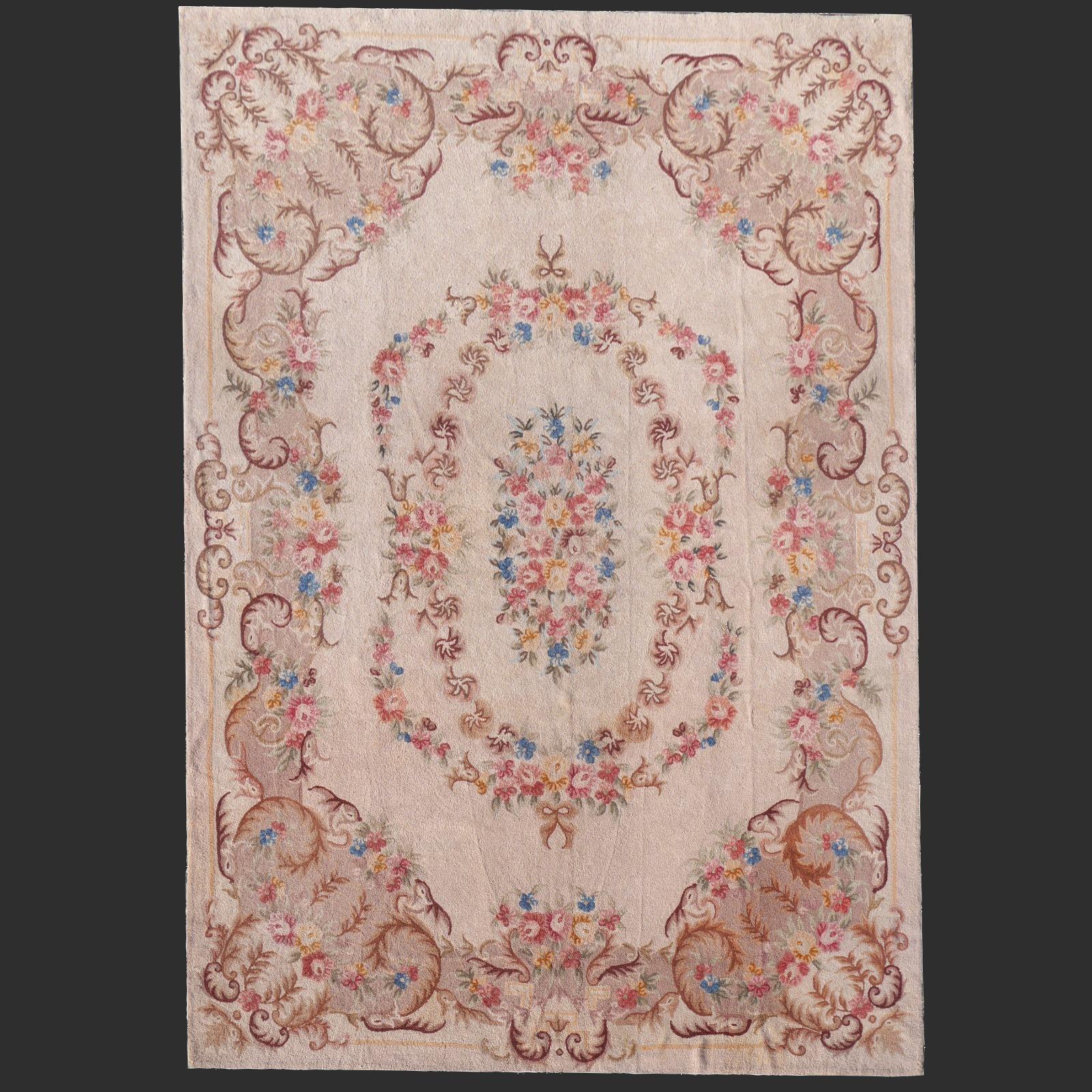 Berber teppich antik  14717 Arraiolos antik Teppich Portugal 450 x 325 cm Aubusson Stil ...