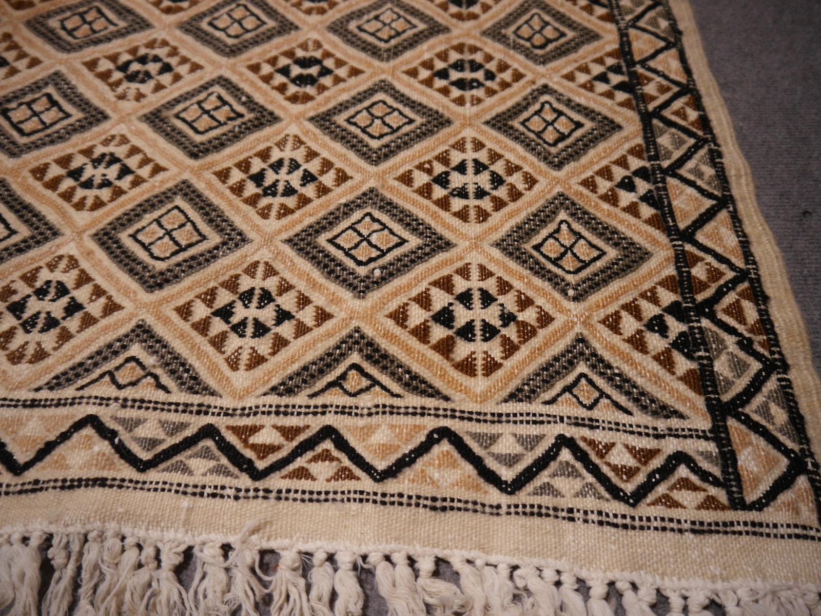 14806 berber kelim teppich 240 x 162 cm beige grau. Black Bedroom Furniture Sets. Home Design Ideas