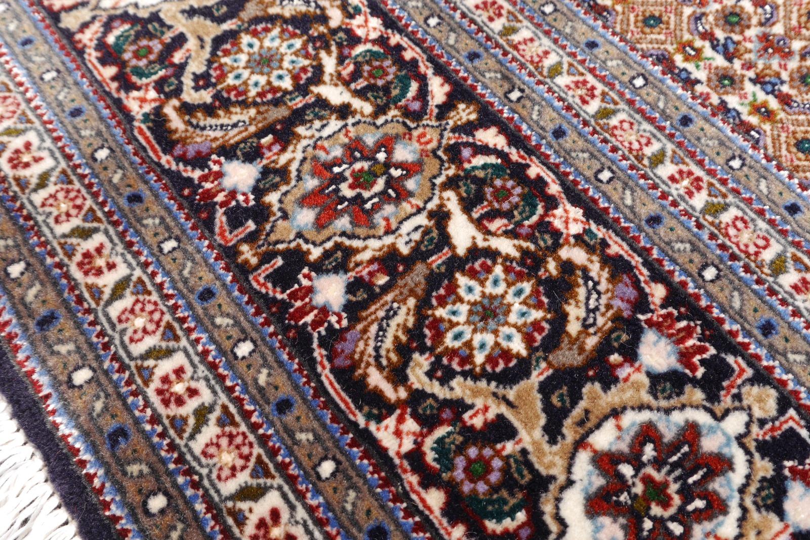 14941 t briz teppich iran persien 210 x 150 cm korkwolle seide 50 raj schwarz rot beige. Black Bedroom Furniture Sets. Home Design Ideas