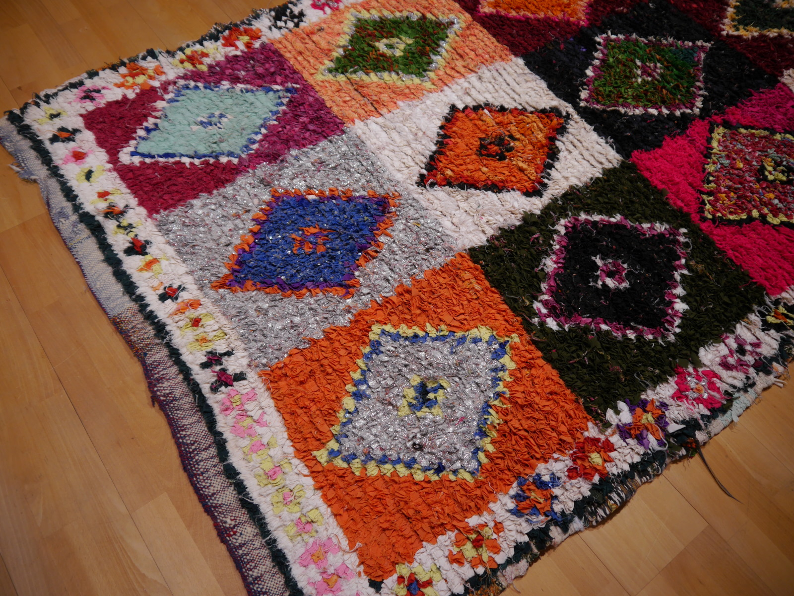 14977 khozema 230 x 140 cm berber teppich marokko vintage textil. Black Bedroom Furniture Sets. Home Design Ideas