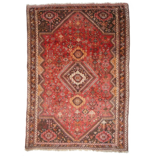 10610 Tribal vintage rug 7.2 x 5.1 ft / 220 x 155 cm