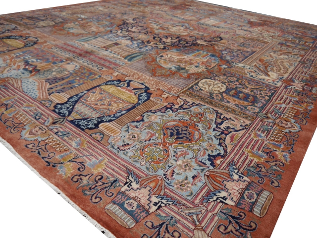 10 x 13 ft persian rug pictoral rug kashmar carpet khoransan 12209