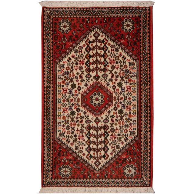 13561 Abadeh persian rug 3.3 x 2 ft / 102 x 62 cm