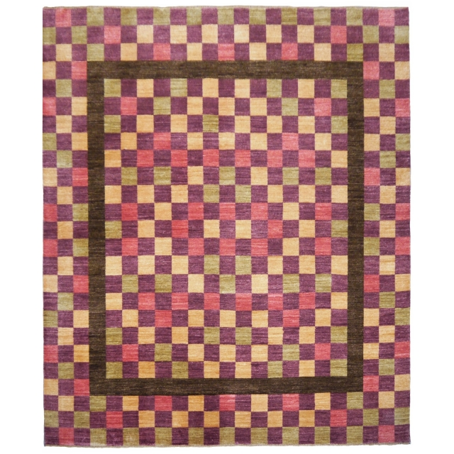 13888 Loribaft fine rug India 9.1 x 8.5 ft / 278 x 258 cm