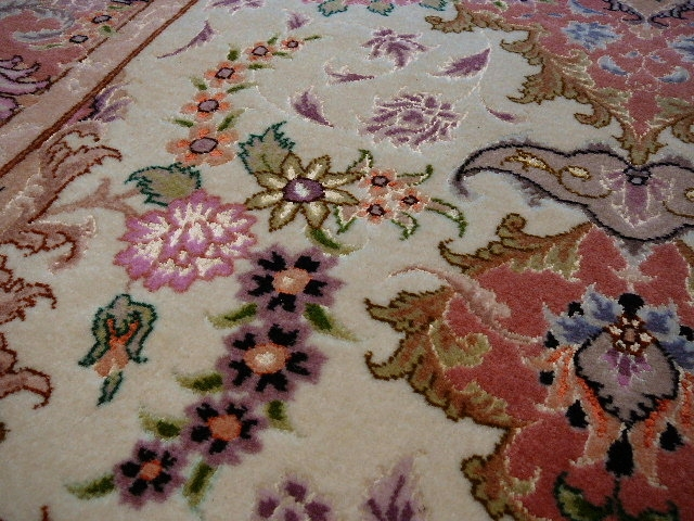 13918 Tabriz hallway runner Rug 9.6 x 2.9 ft / 293 x 89 cm 50 Raj with silk
