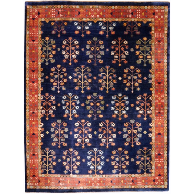 14001 Loribaft rug India 6.6 x 4.9 ft / 201 x 150 cm