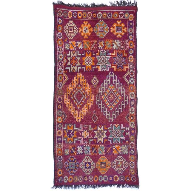 Boujad Berber Teppich alt vintage 310 x 140 Djoharian Teppiche