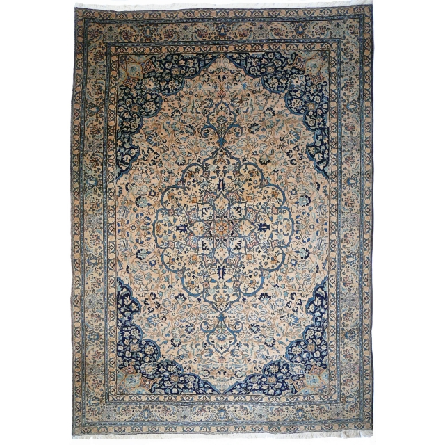 14233 Tabriz antique persian rug 10.3 x 7.4 ft / 315 x 225 cm