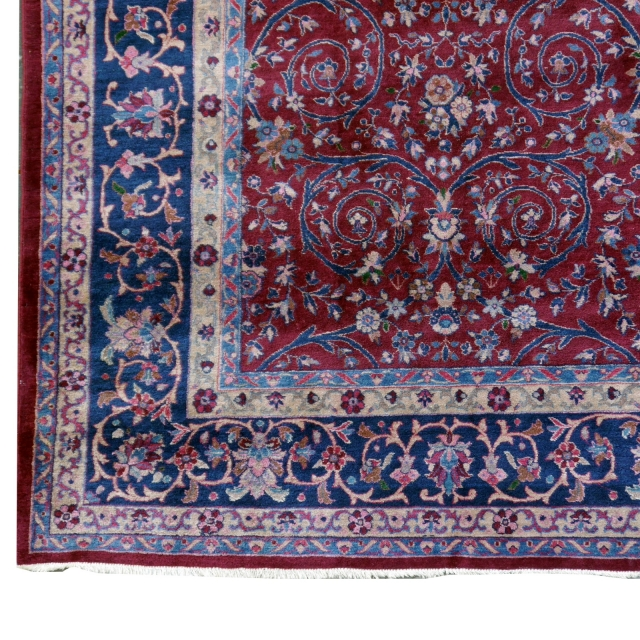 12 x 9 ft antique rug agra mughal carpet 14242