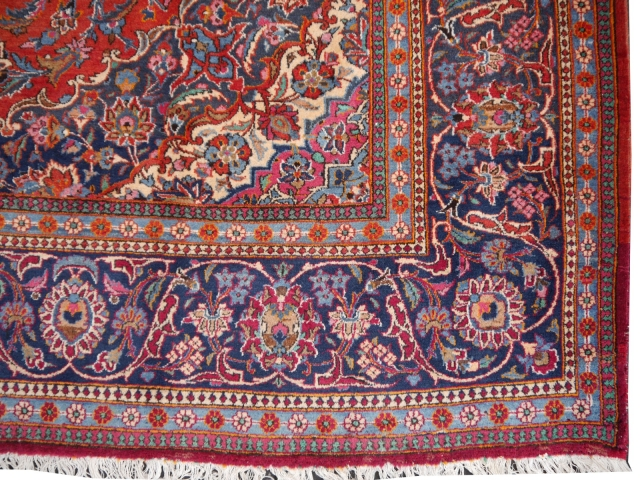 14 x 10 ft persian rug kashan antique 14329 carpet
