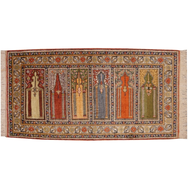 14466 Kayseri SAPH prayer rug Turkey 5.1 x 2.6 ft / 155 x 78 cm