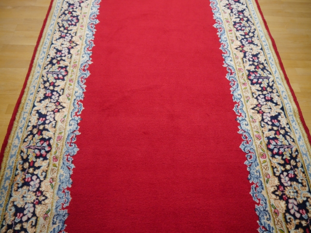 Kerman vintage rug Iran / Persia 16.6 x 4.9 ft / 505 x 150 cm The red Carpet - a beautiful vintage persian Kerman rug.