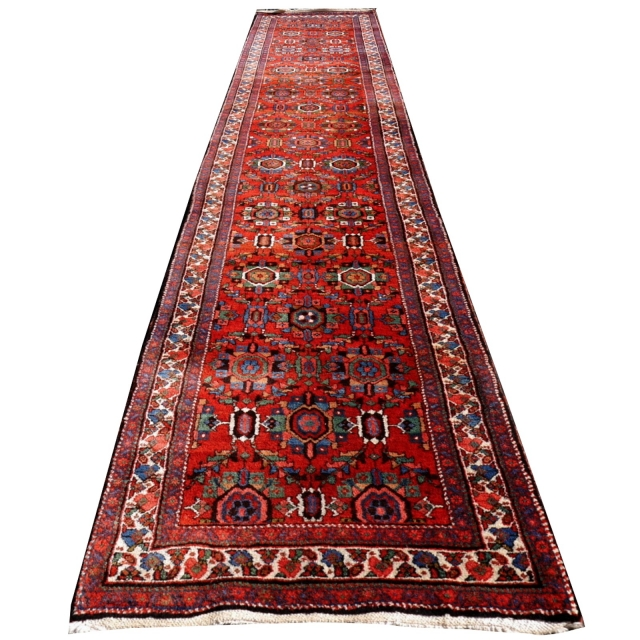 14554 Heriz antique persian rug 18.5 x 3.3 ft - 565 x 100 cm - SOLD