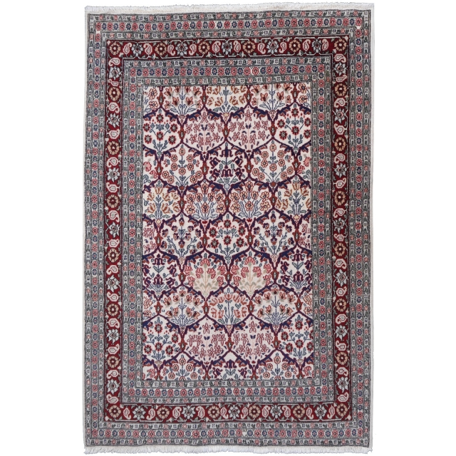 14657 Hereke rug Turkey 6.2 x 4.1 ft / 188 x 126 cm vintage