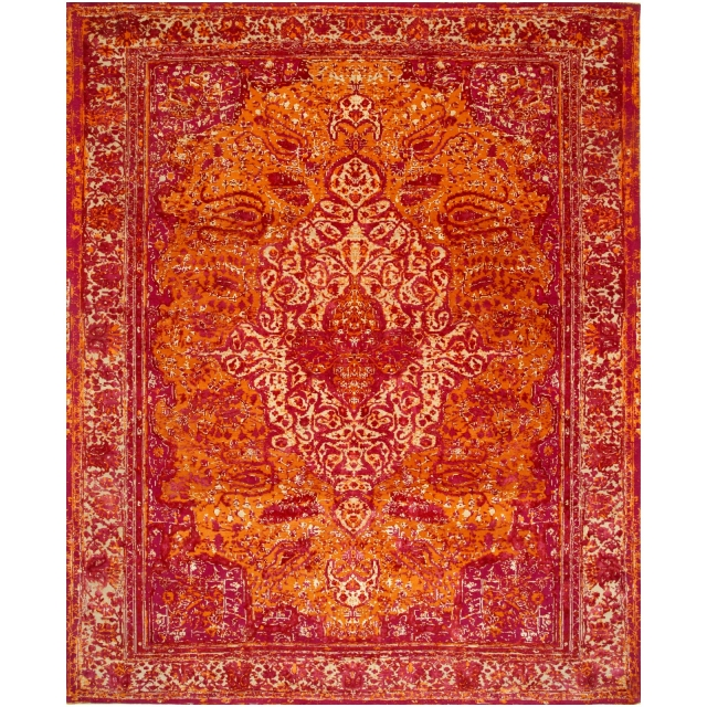 14671 Kashan Revival Rug Silk Wool 9.8 x 8.2 ft / 300 x 250 cm
