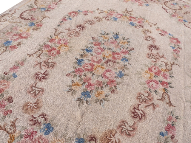 14717 Arraiolos antique needlepoint rug Portugal