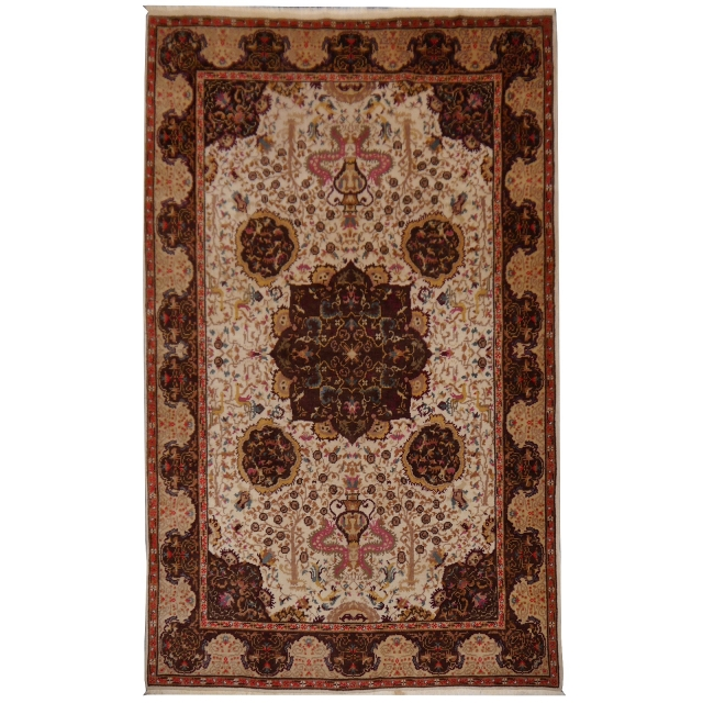 14776 Isparta vintage rug Turkey 9.5 x 6.6 ft / 290 x 200 cm
