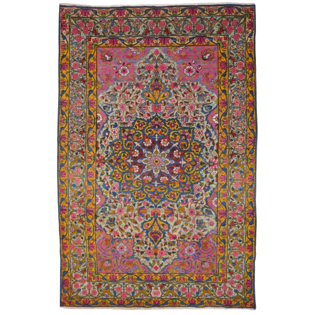 14782 Kerman antique rug Iran / Persia 6.4 x 4.3 ft / 194 x 130 cm