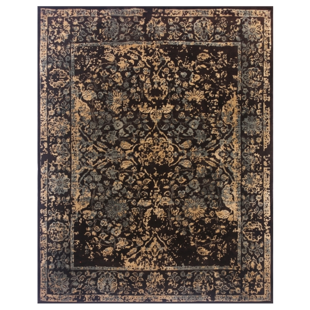 14818 Tabriz Erased rug India 9.9 x 8.0 ft / 302 x 241 cm