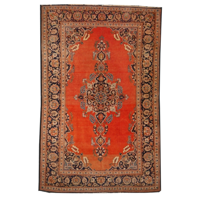 Rug Worn to perfection Persian Rug Kashan antique fine 6.7 x 4.3 ft ft / 205 x 132 cm
