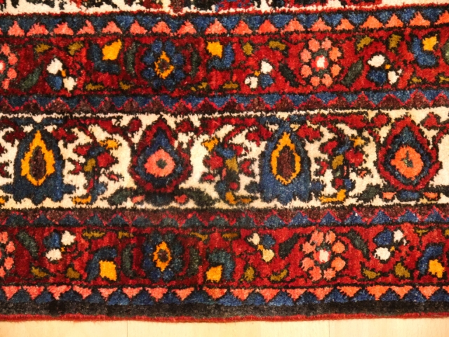 14859 Abadeh rug vintage / semi antique 7 x 5 ft / 208 x 150 cm Zil I Sultan
