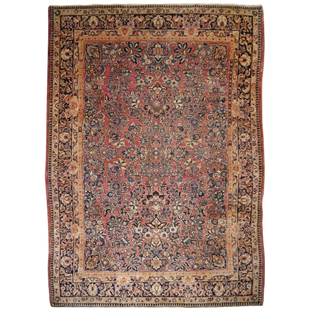 14986 Sarouk antique rug 8.6 x 6.1 ft / 260 x 186 cm