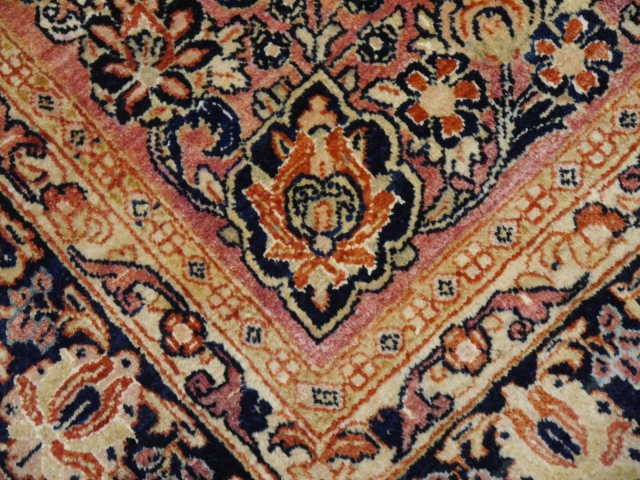 14986 Sarouk antique rug Iran / Persia 8.6 x 6.1 ft / 260 x 186 cm
