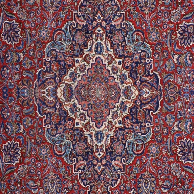 15034 Keshan Kashan 18 x 11 ft 550 x 330 cm rug antique red blue beige palace rug