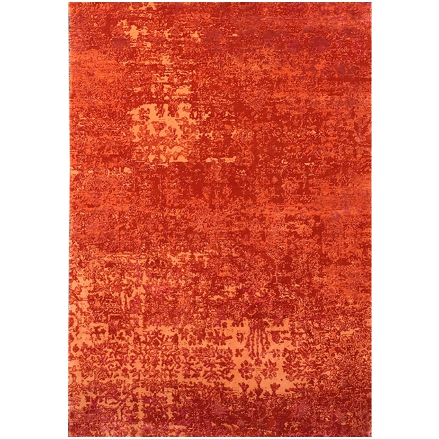 15496 Modern Design Rug Anastasia hand knotted 9.8 x 6.4 ft abstract Wool Bamboo Silk