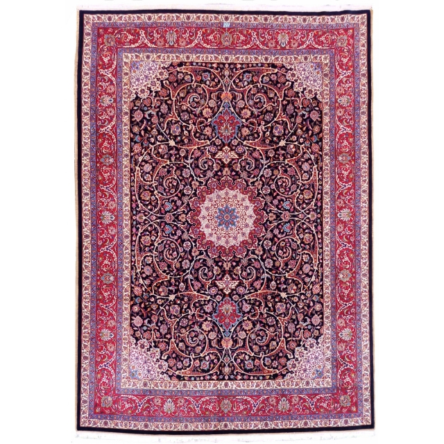 21002 Meshed Amoghli Persian carpet 12 x 9 ft - 360 x 265 cm - signed