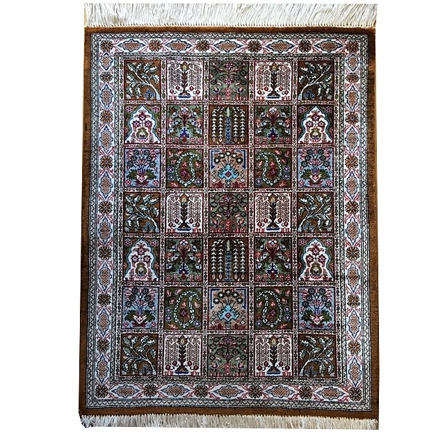 15041 Qum Silk Rug 30 x 22 inch / 75 x 57 cm Persian carpet