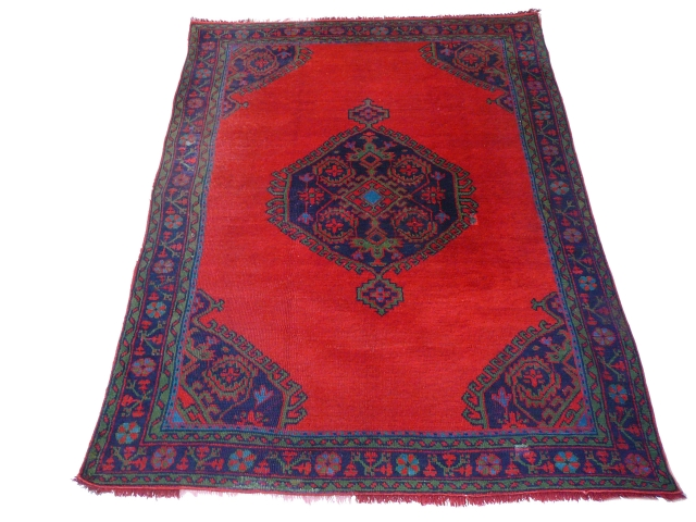 13495 Oushak antique rug Turkey 9.4 x 6.6 ft / 286 x 201 cm