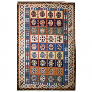11737 Kilim persian rug 10.6 x 7 ft / 323 x 213 cm