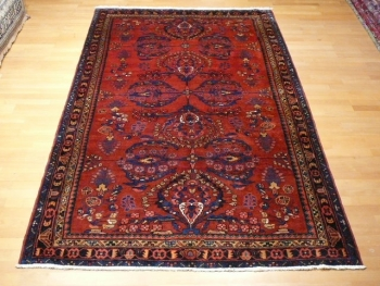 12208 Malayer vintage rug Iran / Persia 8.7 x 5.2 ft / 266 x 158 cm
