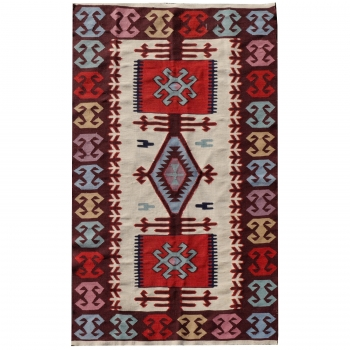 14732 Kilim vintage rug Turkey 4.9 x 3.1 ft / 150 x 96 cm