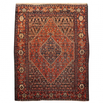 14826 Persian Senneh Antique rug 4.9 x 3.7 ft / 146 x110 cm